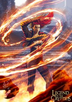 """Fire spell For a card game that is absolutely not related to """"Legend of the Cryptids"""". A man can dream, right?  by  Luciano Fleitas Freelance artist Escobar, Argentina"""