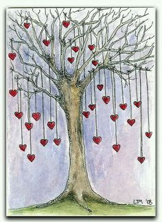 Over 50 of The Best Heart Crafts for Valentine's Day – DIY Fashion Sense Heart Tree, I Love Heart, Heart Pics, Heart Crafts, Yarn Bombing, Artist Trading Cards, Be My Valentine, Valentine Doodle, Tree Art