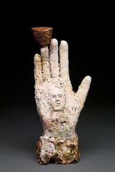 Debra Fritts ''Ceramicist Debra Fritts consecrates the rawness of earth and our deep primal connections with it through her hand-buil. Hand Sculpture, Stone Sculpture, Ceramic Sculptures, Auguste Rodin, Ceramic Studio, Ceramic Art, Pop Art Bilder, Ceramic Sculpture Figurative, Kids Clay