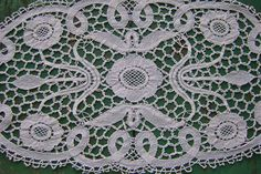 Antique Bobbin Lace Table Runner Doily Scarf Handmade