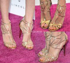 Jimmy Choo gold shoes 2013