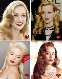 Definitely want my hair like this for my vintage glam day! Long tresses and vintage curls! YES