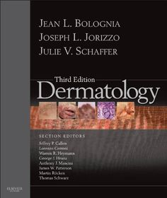 Dermatology (Bolognia, Dermatology)   Dermatology, edited by world authorities Jean L. Bolognia, MD, Joseph L. Jorizzo, MD, and Julie Read  more http://themarketplacespot.com/dermatology-bolognia-dermatology/