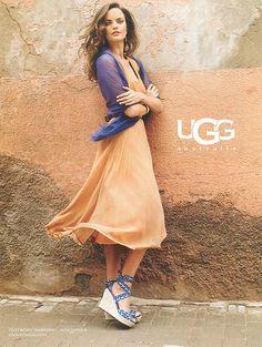 Barbara Fialho For Ugg Brazilian Supermodel, Brazilian Models, Orange Dress, Life Images, Marie Claire, Supermodels, Uggs, Anthropologie, Vogue