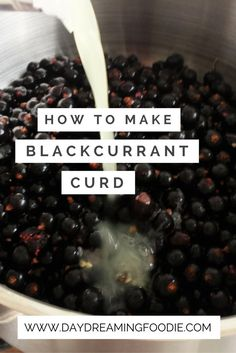 A great alternative to citrus fruit curd and a fabulous was to use up a glut of blackcurrants. Tasty, easy and beautiful blackcurrant curd. Fruit Recipes, Sweet Recipes, Dessert Recipes, Desserts, Dessert Sauces, Black Currant Cake, Currant Recipes, Fruit Packaging, Butter