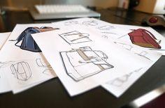 Sketching bags on behance crafty ideas bag illustration, ske Industrial Design Portfolio, Industrial Design Sketch, Portfolio Design, Bag Illustration, Illustrations, Design Food, Bag Design, Diy Bags Patterns, Design Poster