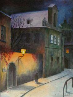 Jakub Schikaneder, Art Sketches, Art Drawings, Landscape Paintings, Watercolor Paintings, Illustrations, Illustration Art, Fantasy Town, Bohemian Art