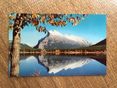 Vintage 50's Postcard  Autumn Mountain by ElkHugsVintage on Etsy