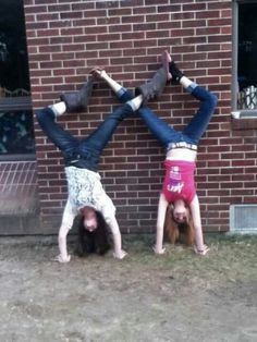 Infinity sign with best friend me and brooke would so fail at this
