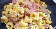 Υλικά:     500 γρ. τορτελίνια με γέμιση τυριού   2 κουταλιές ελαιόλαδο   1 μέτριο ξερό κρεμμύδι   1 κουταλάκι πολτός σκόρδου (ή 1 σκελί... Lunch Time, Pasta Salad, Ethnic Recipes, Food, Crab Pasta Salad, Essen, Noodle Salads, Yemek, Meals