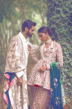 Urwa Hocane models for Saira Rizwan's new bridal campaign shot at the stunning Katas Raj Temples in Chakwal, Pakistan.