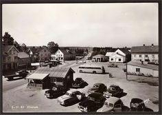 Elverum. Biler parkert. 1950-tallet Normann