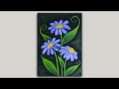 Acrylic Painting Pink and Purple Flowers with a Black Background Easy Flower Painting, Flower Painting Canvas, Acrylic Painting Tutorials, Painting Videos, The Art Sherpa, Art Basics, Facebook Art, Silhouette Painting, Black Acrylic Paint