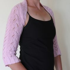 Ravelry: Waves and Waterfalls Lace Shrug pattern by Amanda Woeger