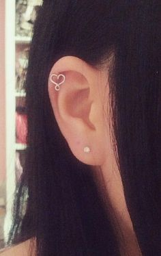 Tiny Heart & Infinity Cartilage Earring by SimplyyCharming on Etsy, $7.00