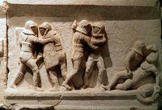 Gladiator : Provocatores vs provocatores- Burdur Museum - Turquey