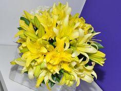 Bouquet de lírios amarelos