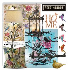 """A Little Bird Told Me"" by drenise ❤ liked on Polyvore featuring interior, interiors, interior design, home, home decor, interior decorating, iittala, Spicher and Company, Dot & Bo and Franklin Iron Works"