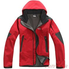 2013 New Hommes The North Face Windstopper Veste Rouge Sortie TNF1751