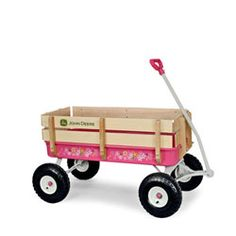 Pink John Deere Wagon. We have them in stock and also in green!