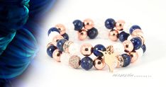 mamor-kek-elegancia-asvany-karkoto-szett Lapis Lazuli, Beaded Bracelets, Jewelry, Fashion, Elegant, Moda, Jewlery, Jewerly, Fashion Styles