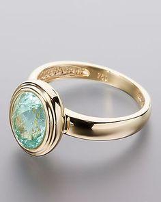 Ring mit Imperial Paraibaturmalin - ein echtes Edelstein-Highlight, um das man Sie mit Sicherheit beneiden wird.  Der Ring aus kostbarem 750er Gelbgold wurde ganz klassisch mit einer schmalen Ringschiene gestaltet und ist zeitlos schön. Das hat er natürlich auch dem ganz besonderen Edelstein zu verdanken, der mittig auf dem Ringkopf thront.  Es handelt sich hier um einen #grün-blauen #Paraibaturmalin.  #Ring #Schmuck #Turmalin #Edelstein