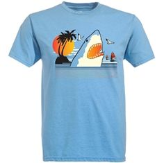 Show details for Ames Bros 'Relax' T-Shirt Heather Light Blue