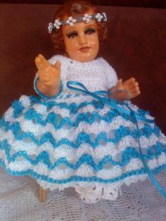 CROCHET - Vestido Niño Dios Crochet Baby Clothes, Crochet Baby Hats, Jesus Clothes, Baby Jesus, Chrochet, Dory, Diy And Crafts, Barbie, Disney Princess