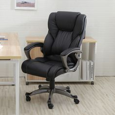 This picture about: Ways To Tidy Leather Computer Chair, entitled as Leather Computer Chair High Back Office - likewise explains and identified as: brown leather desk chair, executive leather office. High Back Office Chair, Black Office Chair, Desk Office, Office Inspo, Executive Office Chairs, Ergonomic Office Chair, Office Seating, Cool Chairs, Bar Chairs