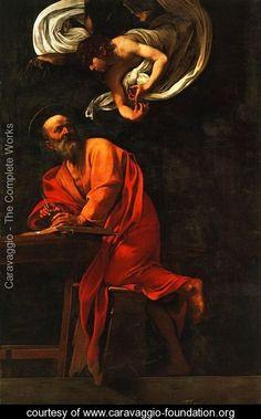 Michelangelo Merisi da Caravaggio, dit Le Caravage (Italie, 1571-1610) – Saint Mathieu et l'Ange (1602) – Église Saint-Louis-des-Français, Rome