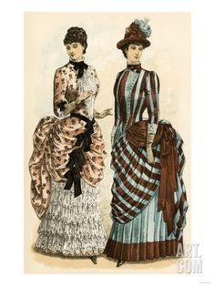 Godey's Ladies' Fashions, 1880s Giclee Print at Art.com