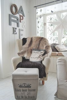 Light Browns, Cosy Corner, Cushions, Pillows, Simple Things, Couches, Grey And White, Manchester, Armchair