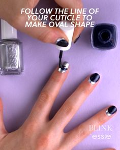 The Upside Down Metallic Mani #blinkbeauty #metallicnailpolish #nailart #nailartutorial