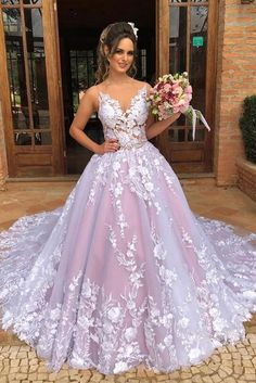 This dress could be custom made, there are no extra cost to do custom size and color, Ball Gown Spaghetti Straps V Neck Tulle Prom Dresses with Applique Pink Wedding Dresses Prom Dresses Long Pink, Pink Wedding Dresses, A Line Prom Dresses, Tulle Prom Dress, Prom Dresses Online, Cheap Prom Dresses, Tulle Lace, Pink Tulle, Gown Wedding