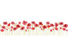 Red flower border clip art red poppy flower frame easy pinterest poppies borders watercolour by naliaart on creativemarket mightylinksfo