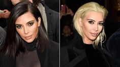 Kim Kardashian West switching up her look with platinum blonde.