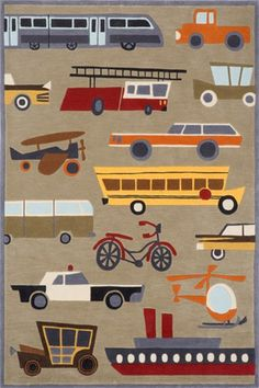 @rosenberryrooms is offering $20 OFF your purchase! Share the news and save! (*Minimum purchase required.) Planes Trains & Automobiles Rug #rosenberryrooms