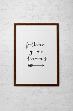 Inspirational Quote Modern Calligraphy by AddisonAndLake on Etsy, $12.00