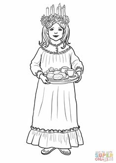 Sankta Lucia coloring page                                                                                                                                                                                 More