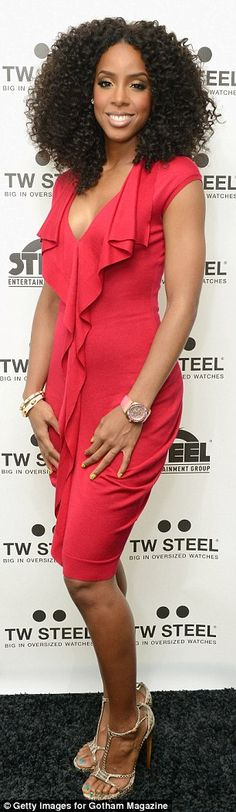 Scarlet woman: Thankfully Kelly didn't clash with the red carpet