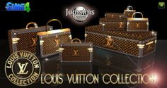Sims 4 CC's - The Best: Louis Vuitton Collection by Jomsims Sims New, The Sims 4 Pc, My Sims, Sims 4 Cc Furniture Living Rooms, Sims 4 Blog, Louis Vuitton Luggage, Sims 4 Clutter, Louis Vuitton Collection, Sims 4 Cc Shoes