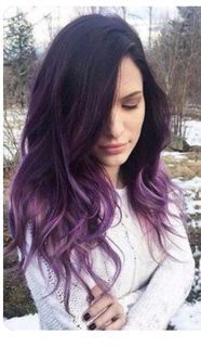 Ombre Hair and Purple Ombre Surely you have noticed how popular purple ombre can be. And today we will talk about what shades of hair purple ombre combine. We will also discuss how to create a purp… Ombre Hair Roxo, Brown Ombre Hair, Black Ombre, Brown Hair With Purple Highlights, Dyed Hair Ombre, Dyed Hair Purple, Brown To Purple Ombre, Ombre Hair Brunette, Purple Ombre Nails