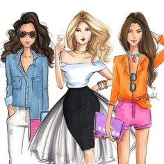 """""""Ready, set, weekend #fashionsketch #fashionillustration #fashionillustrator…"""