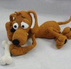 Собака крючком