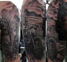 motorbike tattoo inspiration arm - Google Search