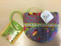 Cute Tea Cup Zippered Pouch. The pattern is by Patchwork Pottery.