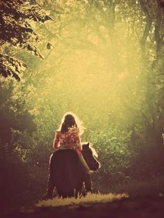 I remember the free spirit of jumping on my pony bareback & just wandering where she took me