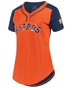Majestic Women's Houston Astros League Diva T-Shirt - Orange XS