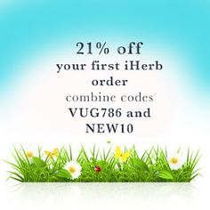 I love iHerb: 21 % off your iHerb first order and week offers