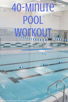 Try this 40-minute pool workout that incorporates both cardio and resistance moves. Cardio Workout Plan, Pool Workout, Water Workouts, Water Aerobic Exercises, Swimming Pool Exercises, Fun Workouts, Ab Exercises, Water Aerobics Routine, Water Aerobics Workout